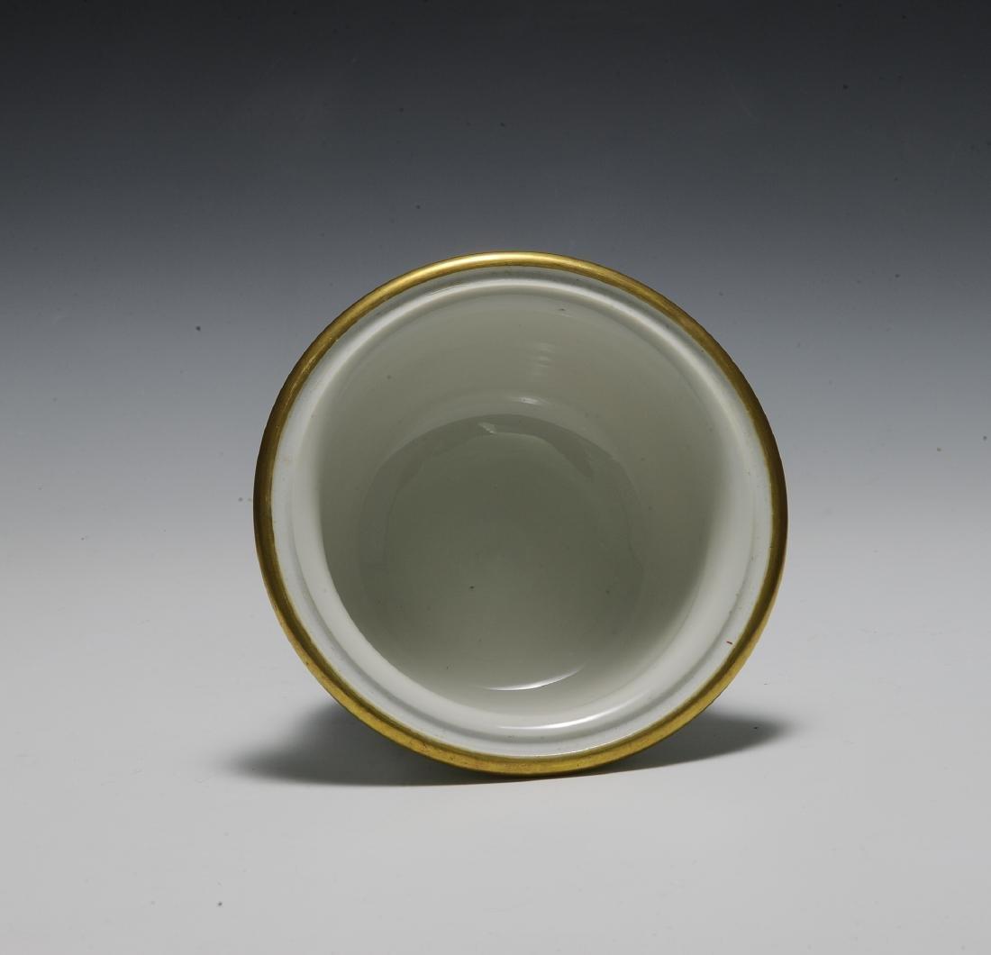 Chinese 3 Piece Porcelain Food Warmer, Xianfeng - 8