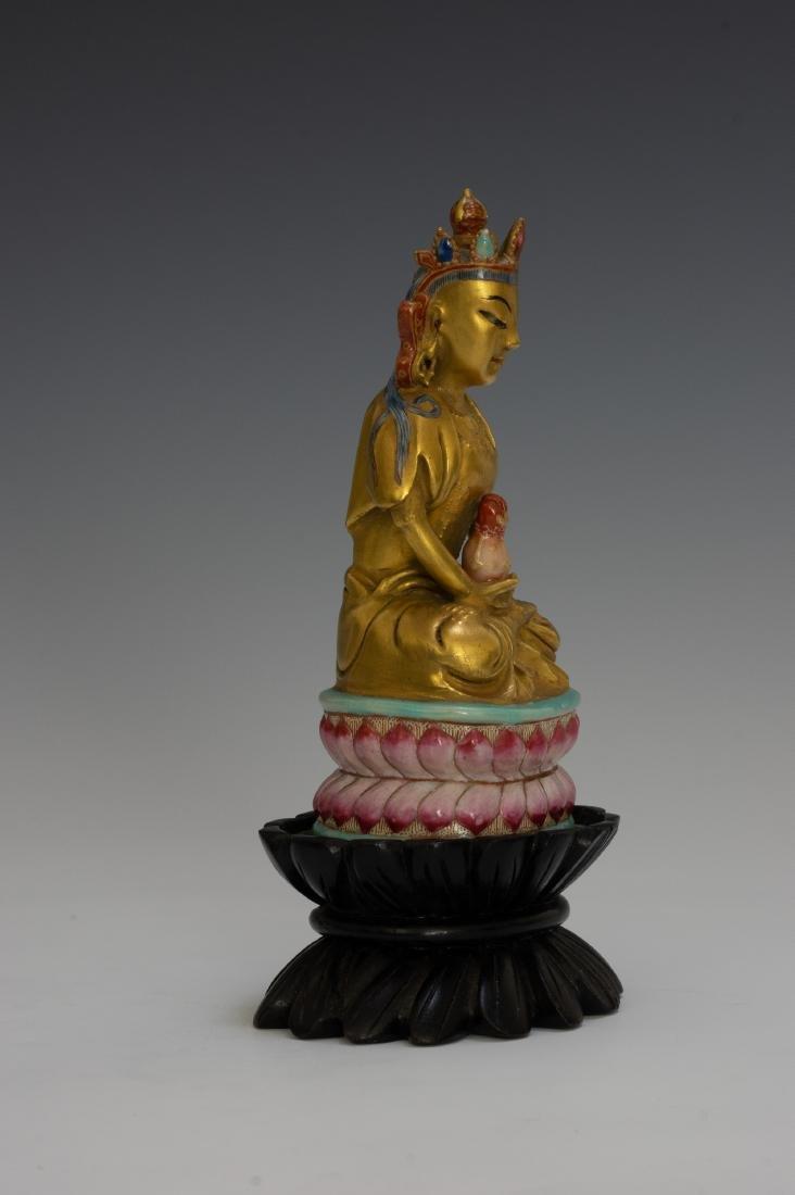 Chinese Porcelain Figure of Buddha, Qianlong - 2