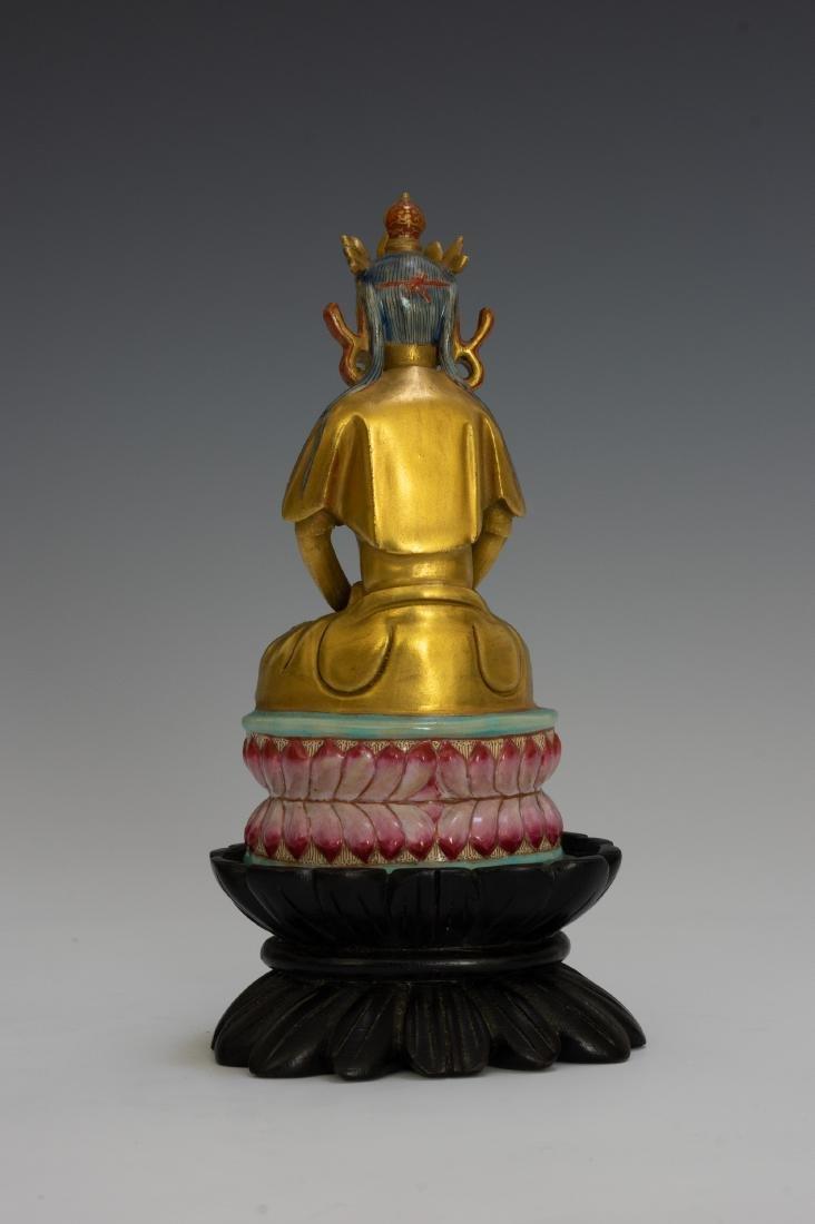 Chinese Porcelain Figure of Buddha, Qianlong - 3