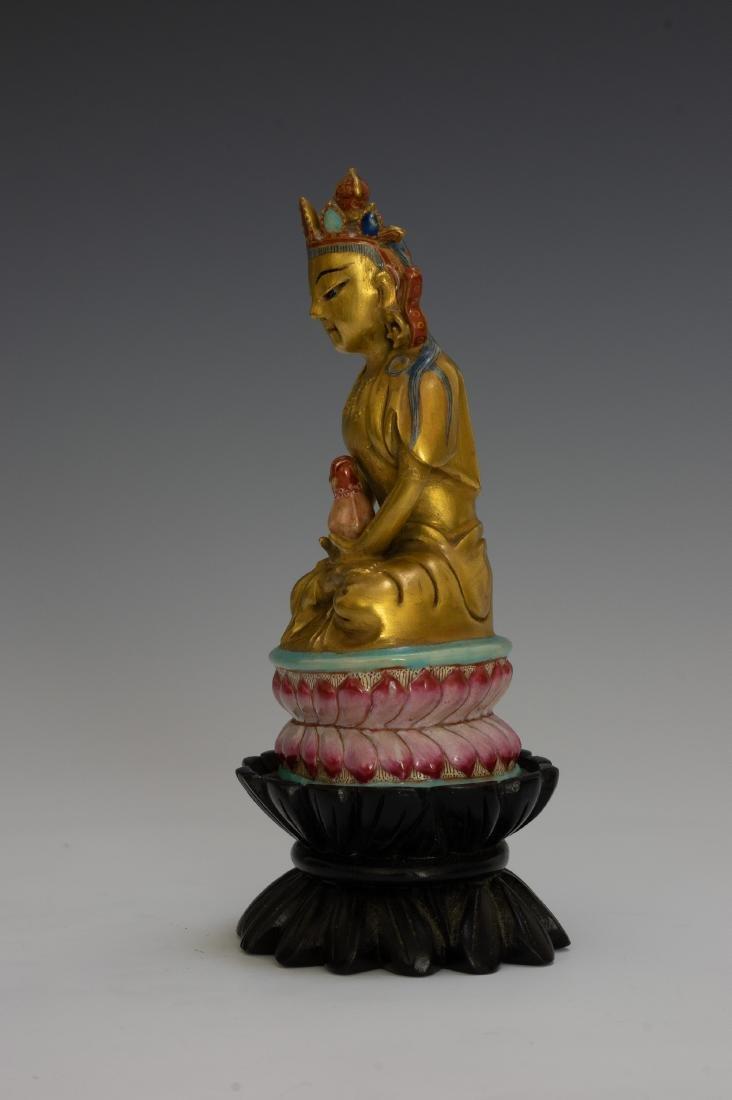 Chinese Porcelain Figure of Buddha, Qianlong - 4