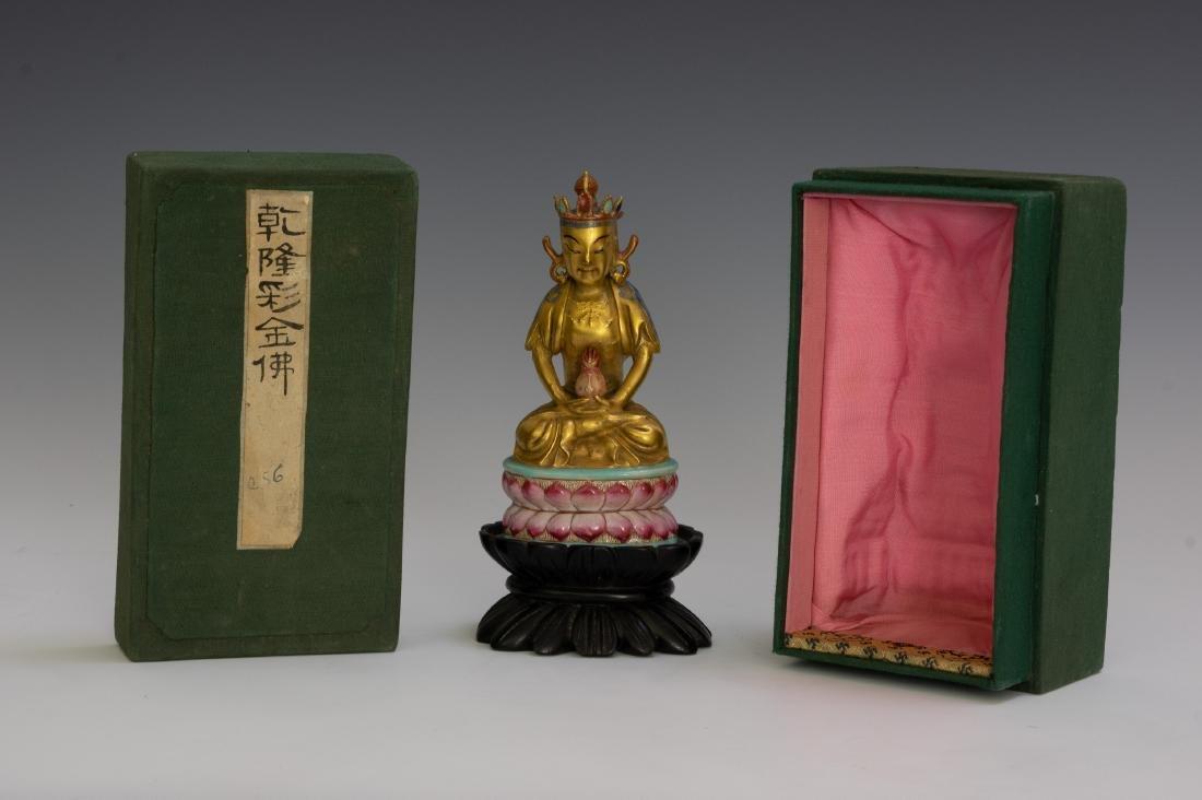 Chinese Porcelain Figure of Buddha, Qianlong - 6