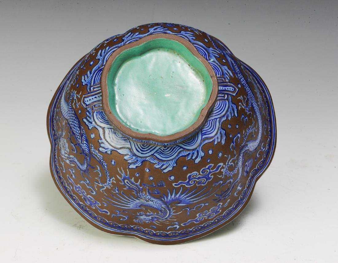 Chinese Yixing Zisha Cinquefoil Bowl, 19th Century - 5