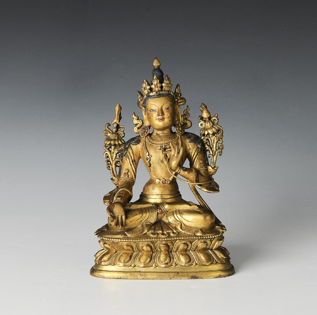 Gilt Bronze Seated Buddha, 17-18th Century