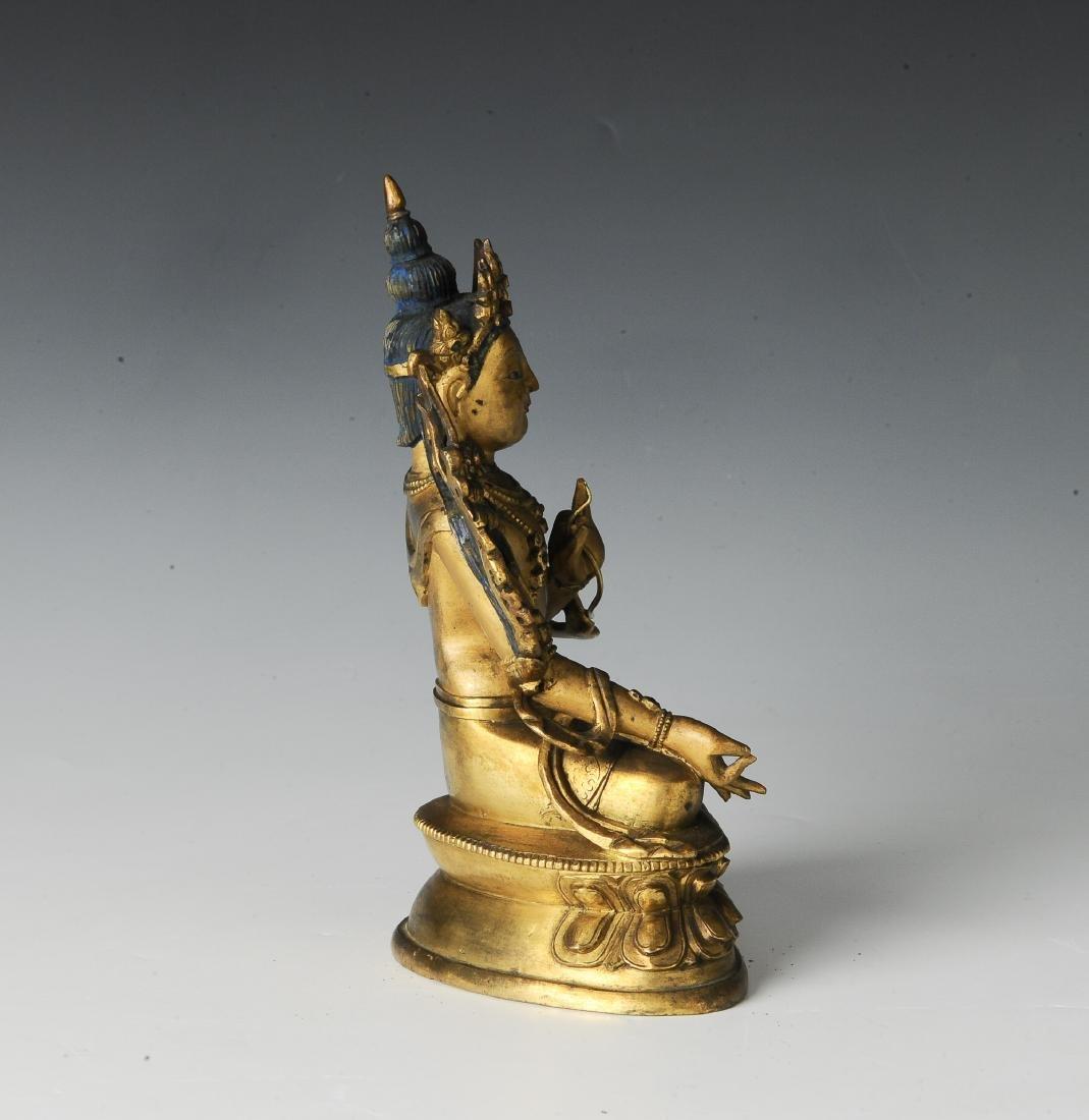 Gilt Bronze Seated Buddha, 17-18th Century - 5