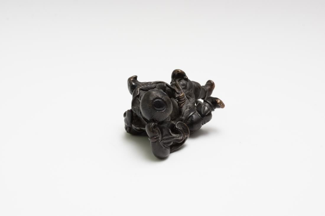 Chinese Bronze Figurine of Liu Hai, Ming Dynasty - 2