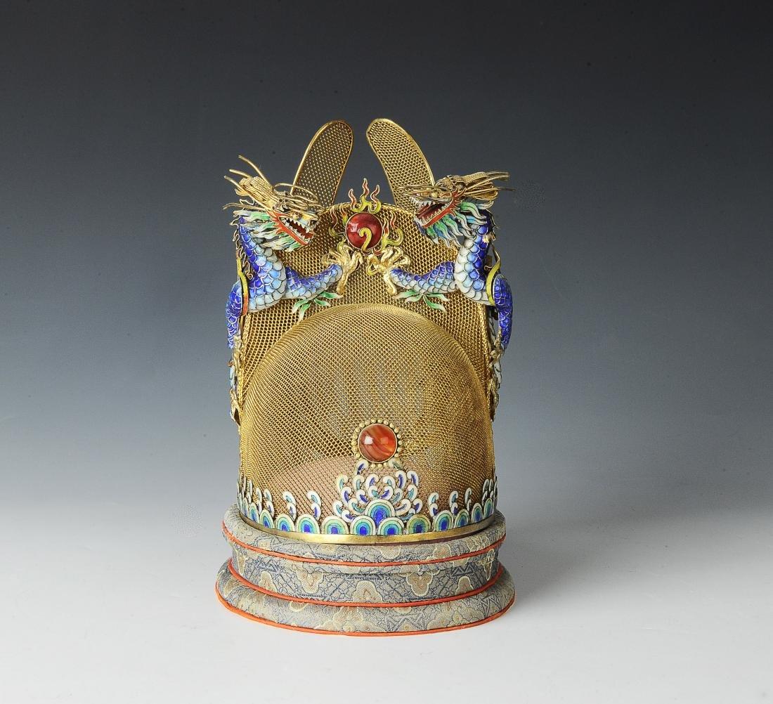 Gilt Silver Crown made by Beijing Jewelry w/ Box