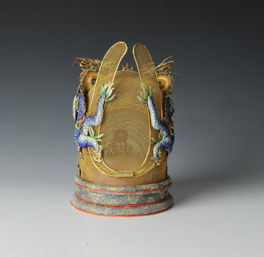 Gilt Silver Crown made by Beijing Jewelry w/ Box - 3