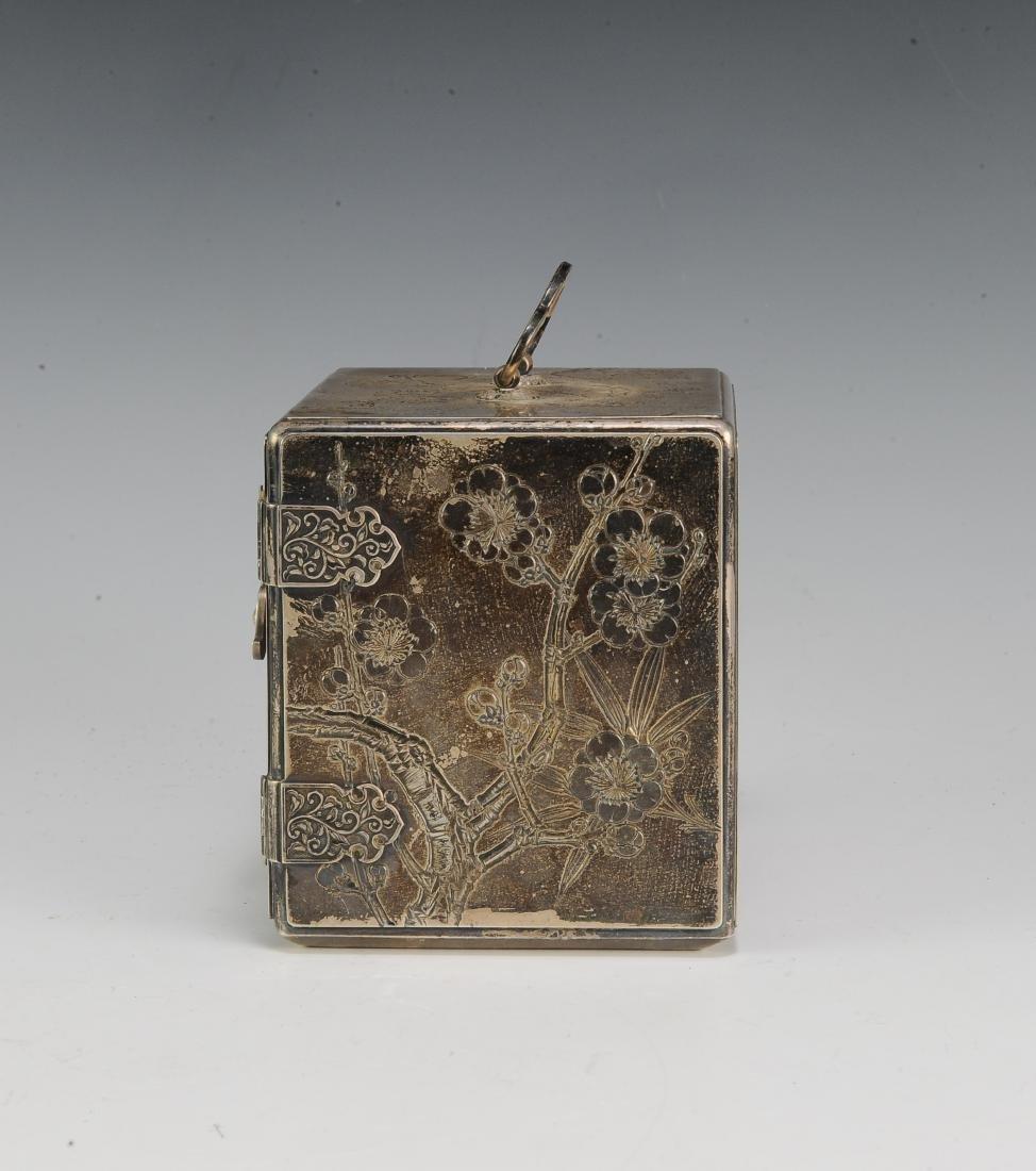 Japanese Silver Scholar's Box, 19th Century - 5