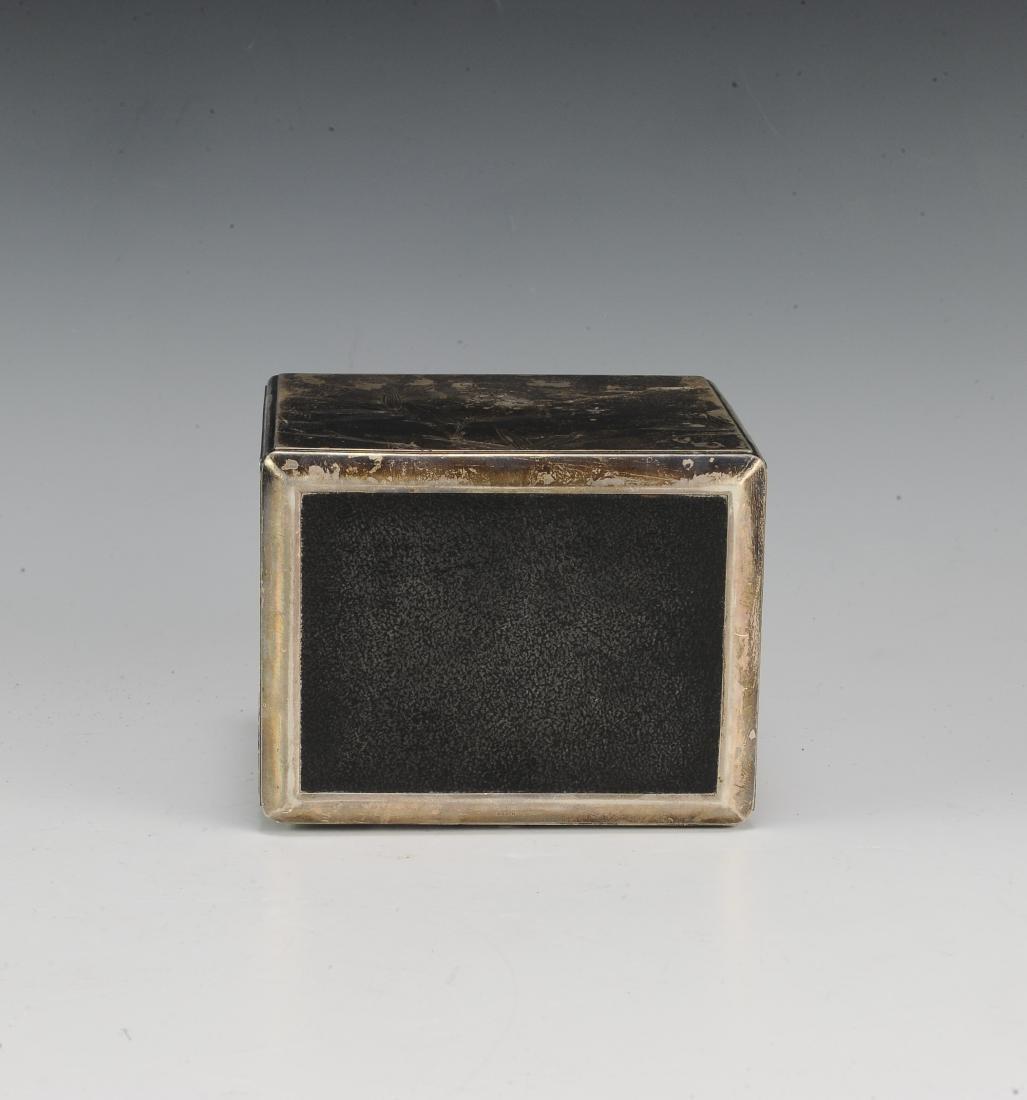 Japanese Silver Scholar's Box, 19th Century - 7