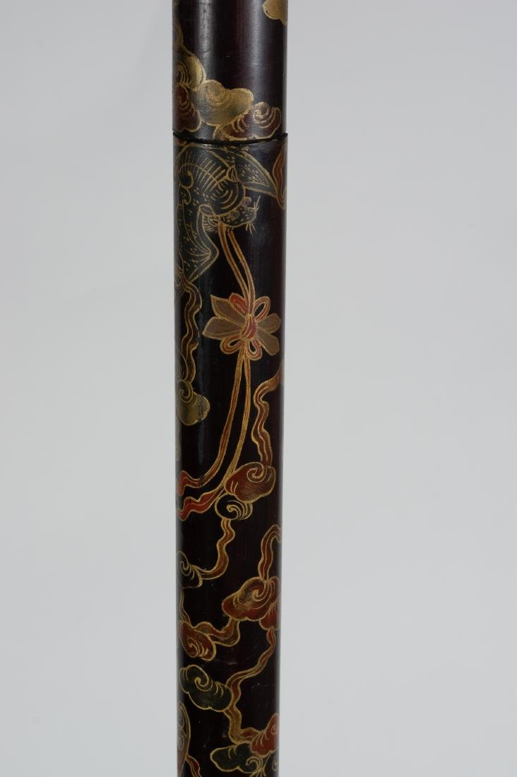 Chinese Lacquer Candle Holder, 18th-19th Century - 2