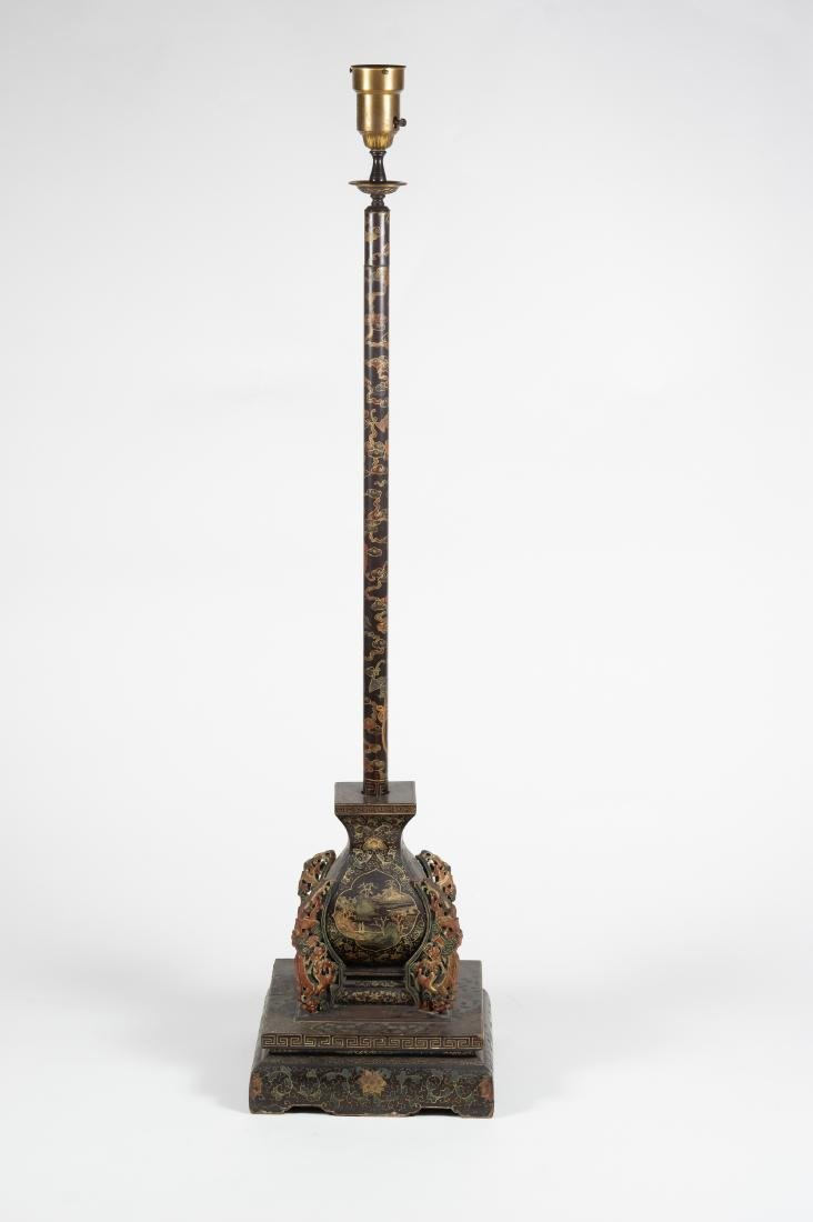 Chinese Lacquer Candle Holder, 18th-19th Century - 6