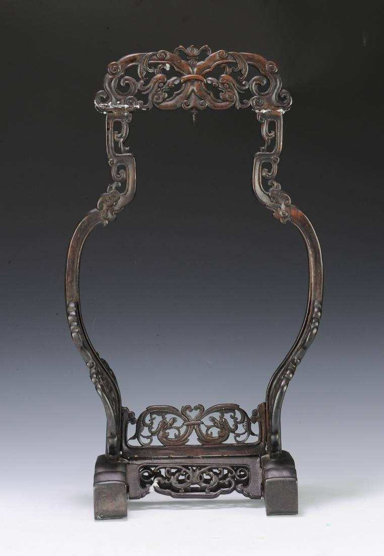 Carved Rosewood Vase Stand, 19th Century - 3