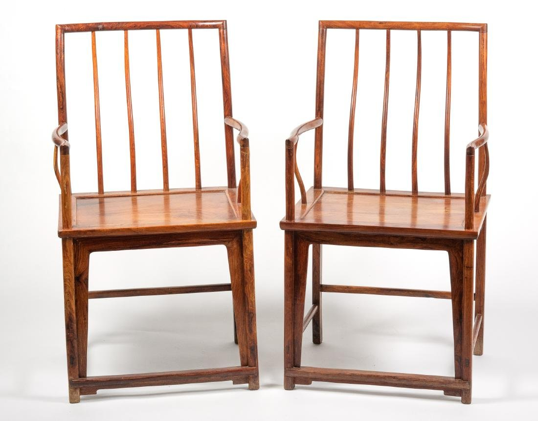 Pair Of Chinese Huanghuali Chairs