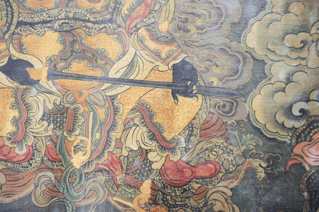Pair of Thangkas of Guardian Kings - 6