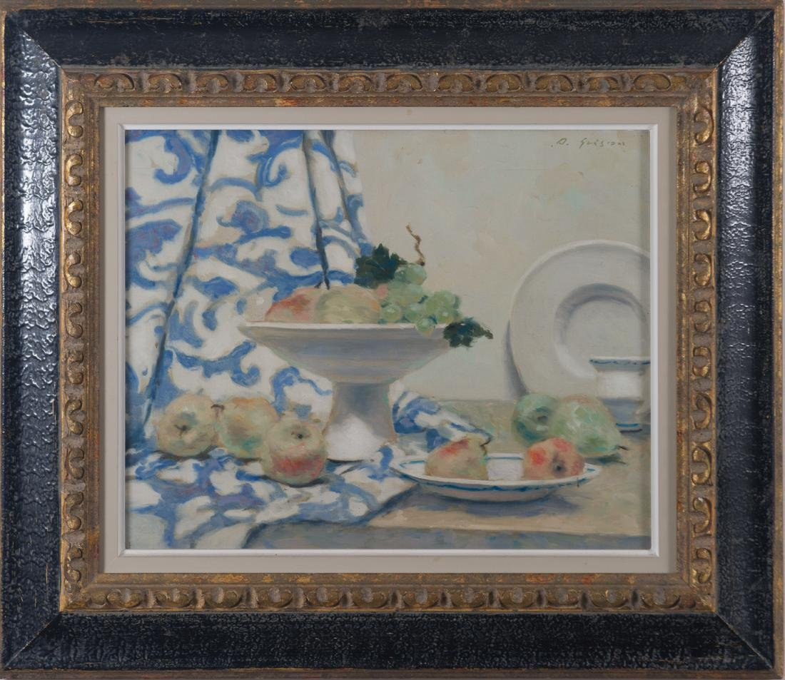 Andre Gisson Oil on Canvas Still Life Painting