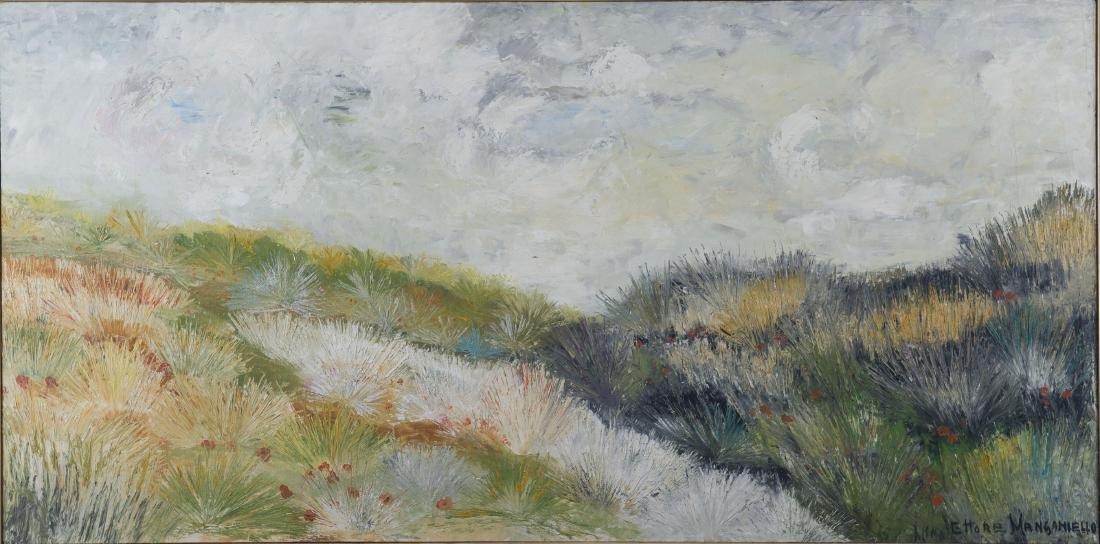 Ettore Manganiello Oil on Canvas Landscape