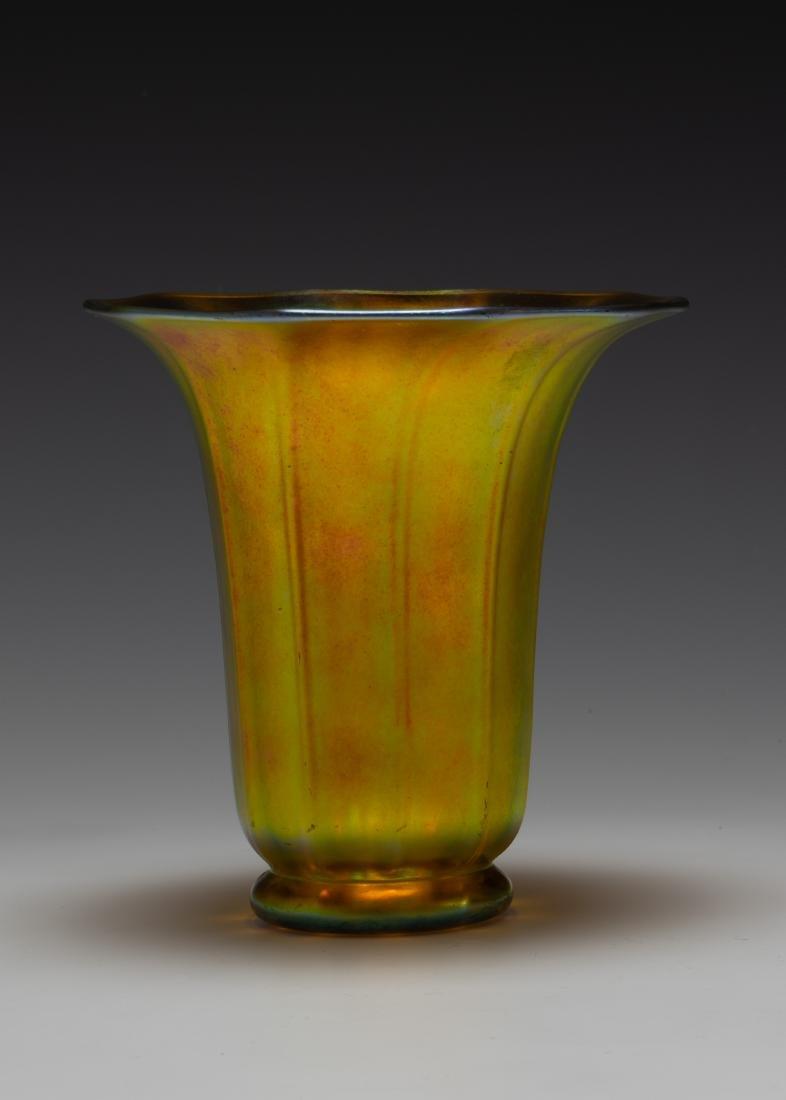 Steuben Aurene Trumpet Vase #913 - 2