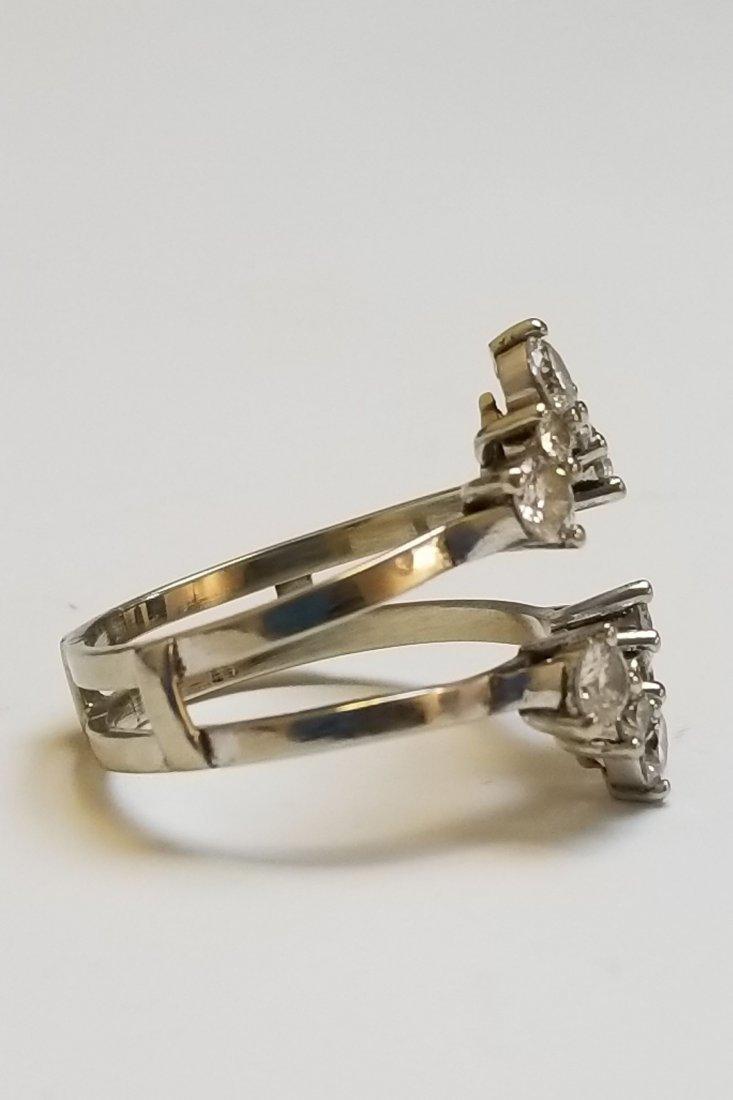 (2) Platinum 14k & Diamond Insert Rings - 8