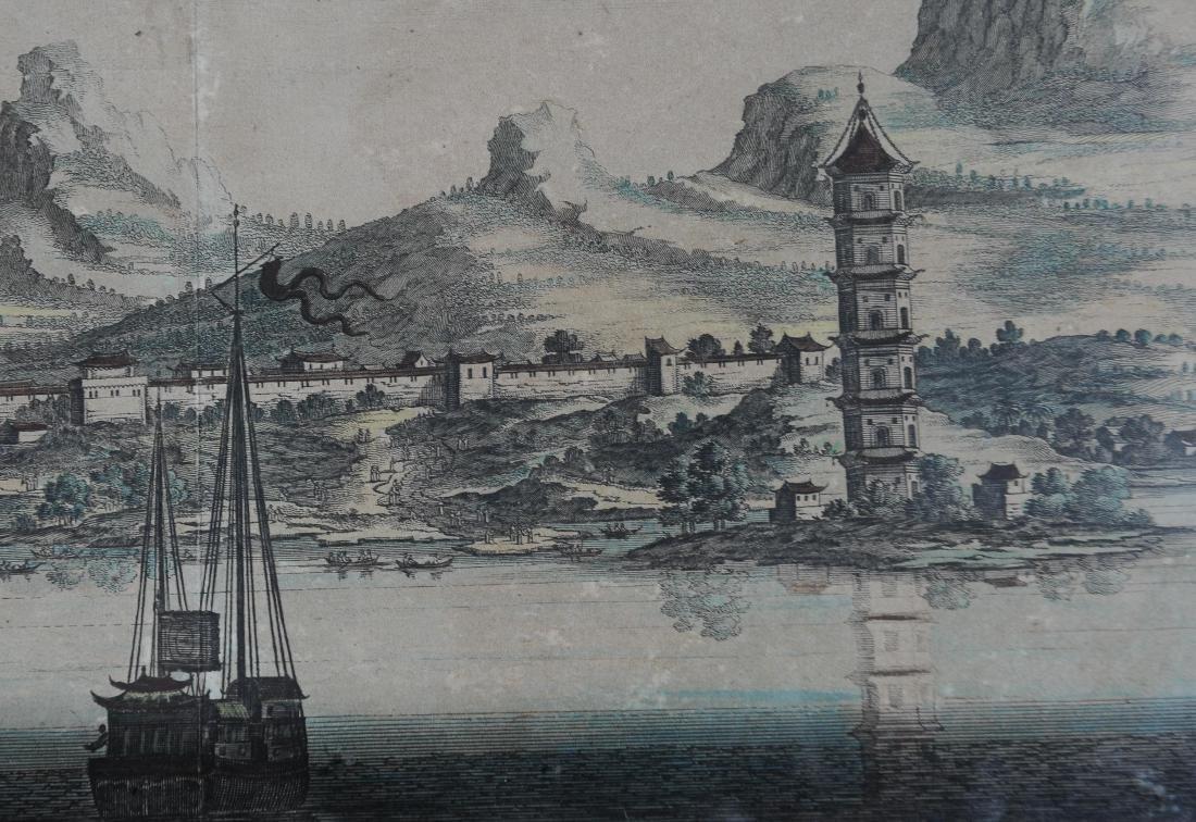 1670 Aquatint Map View of Suzhou China - 3