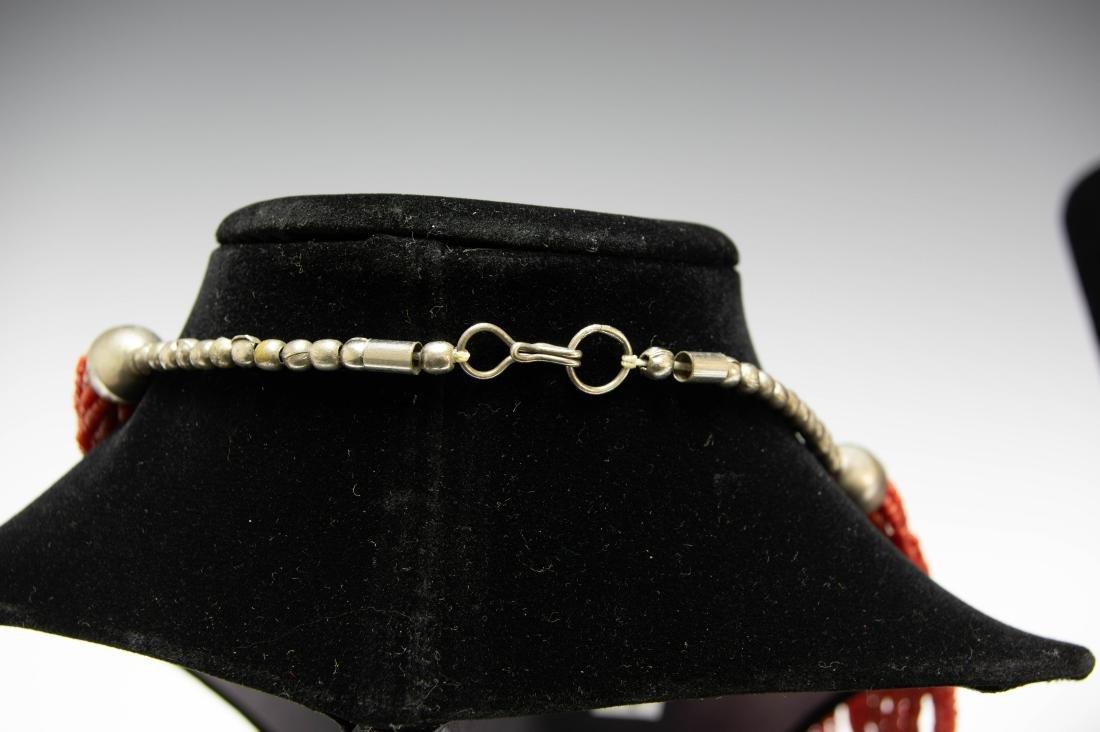 Native American Coral Bead Necklaces (2) - 2