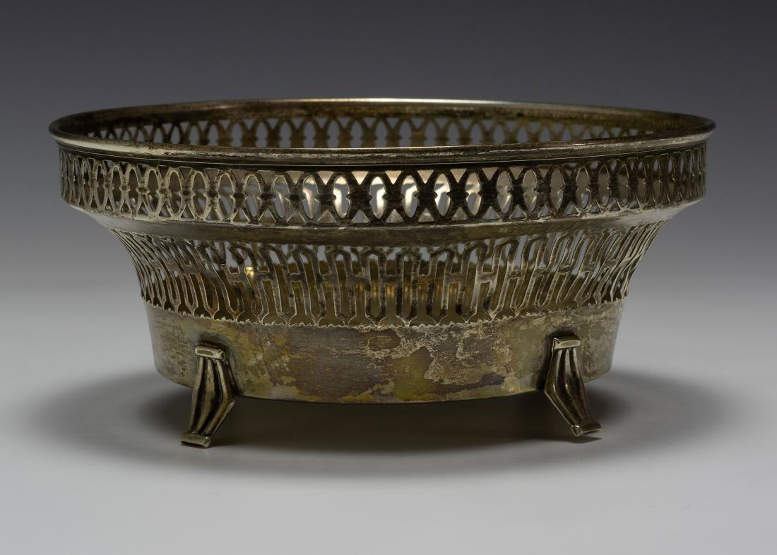 925 Sterling Silver Towle Reticulated Footed Bowl
