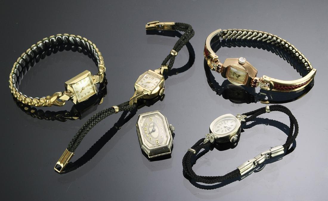 14K Gold Deco Ladies Watches (5)