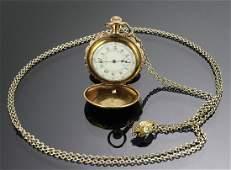 C Elgin 14K GF Duchess Tricolor Gold Watch 19th c