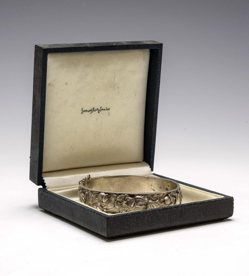 925 Sterling Cuff Bracelet Samuel Kirk Cased