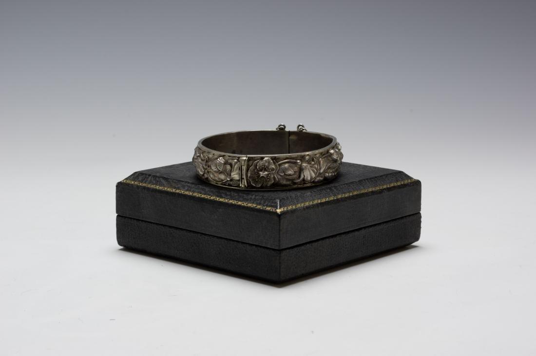 925 Sterling Cuff Bracelet Samuel Kirk Cased - 3