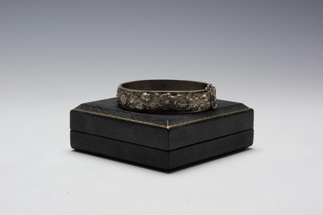 925 Sterling Cuff Bracelet Samuel Kirk Cased - 4
