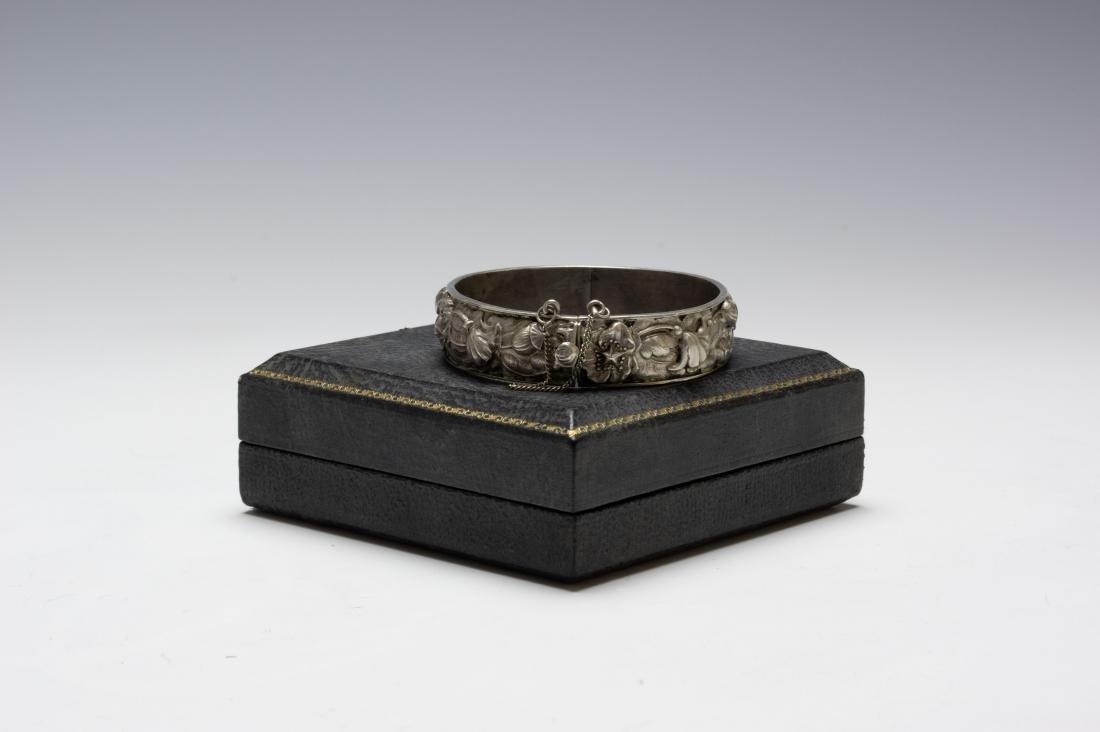 925 Sterling Cuff Bracelet Samuel Kirk Cased - 5