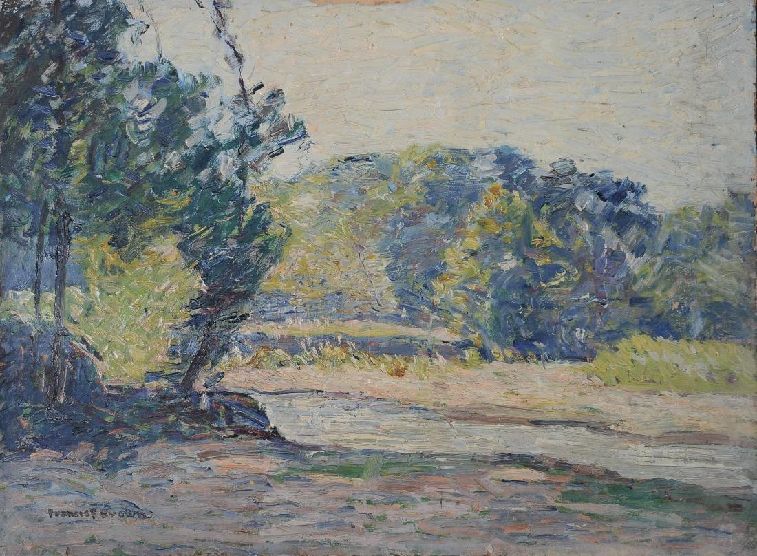 Francis Focer Brown Dbl Sided Oil Board Landscape