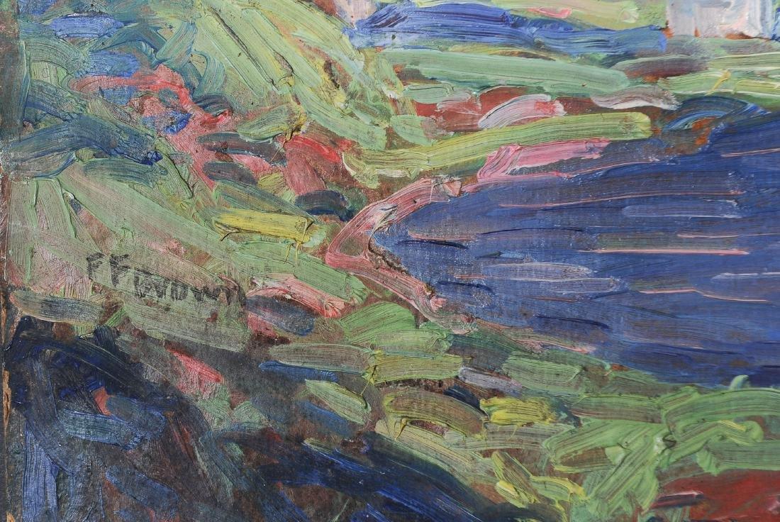 Francis Focer Brown Dbl Sided Oil Board Landscape - 3