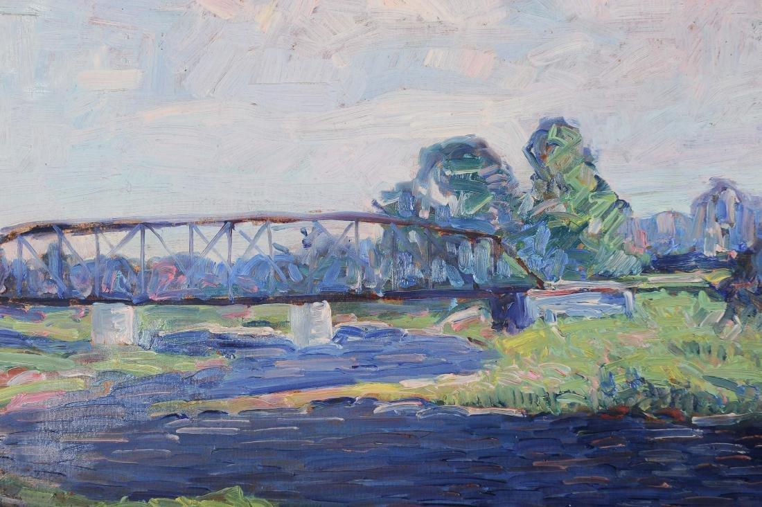Francis Focer Brown Dbl Sided Oil Board Landscape - 4