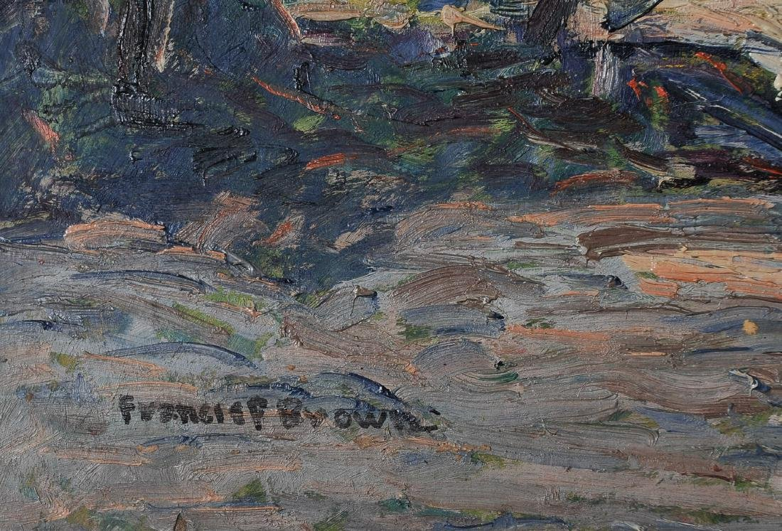 Francis Focer Brown Dbl Sided Oil Board Landscape - 5