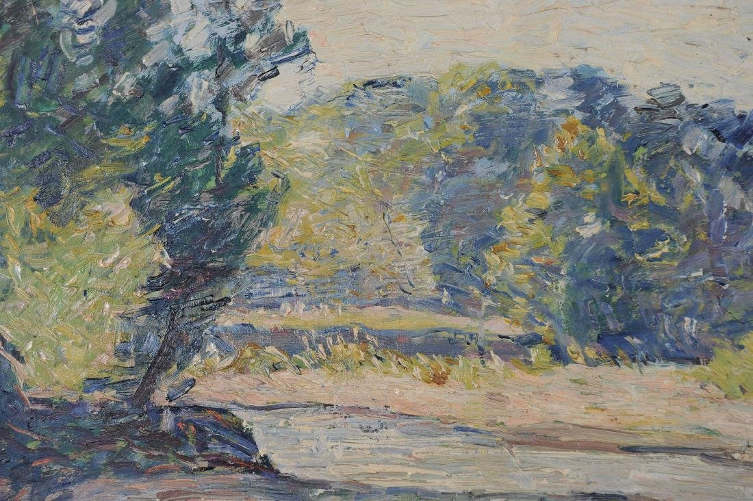 Francis Focer Brown Dbl Sided Oil Board Landscape - 6