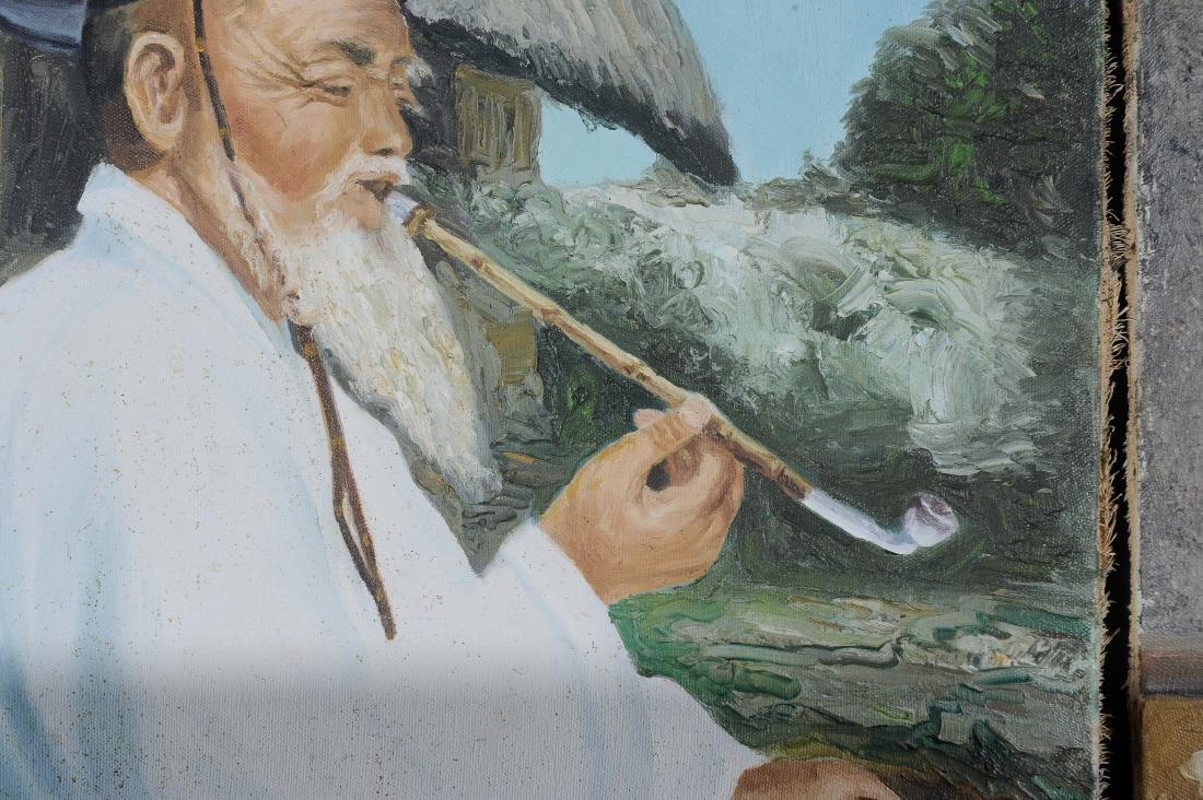 Signed Korean Oil on Canvas Portraits (2) - 2