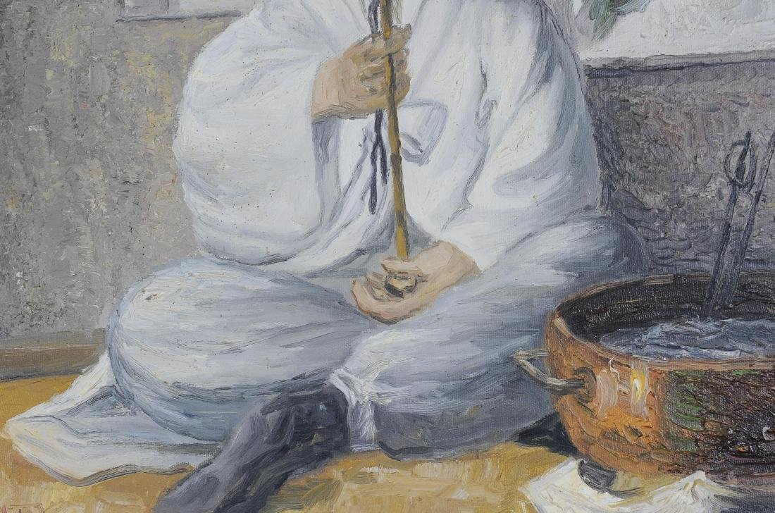 Signed Korean Oil on Canvas Portraits (2) - 4