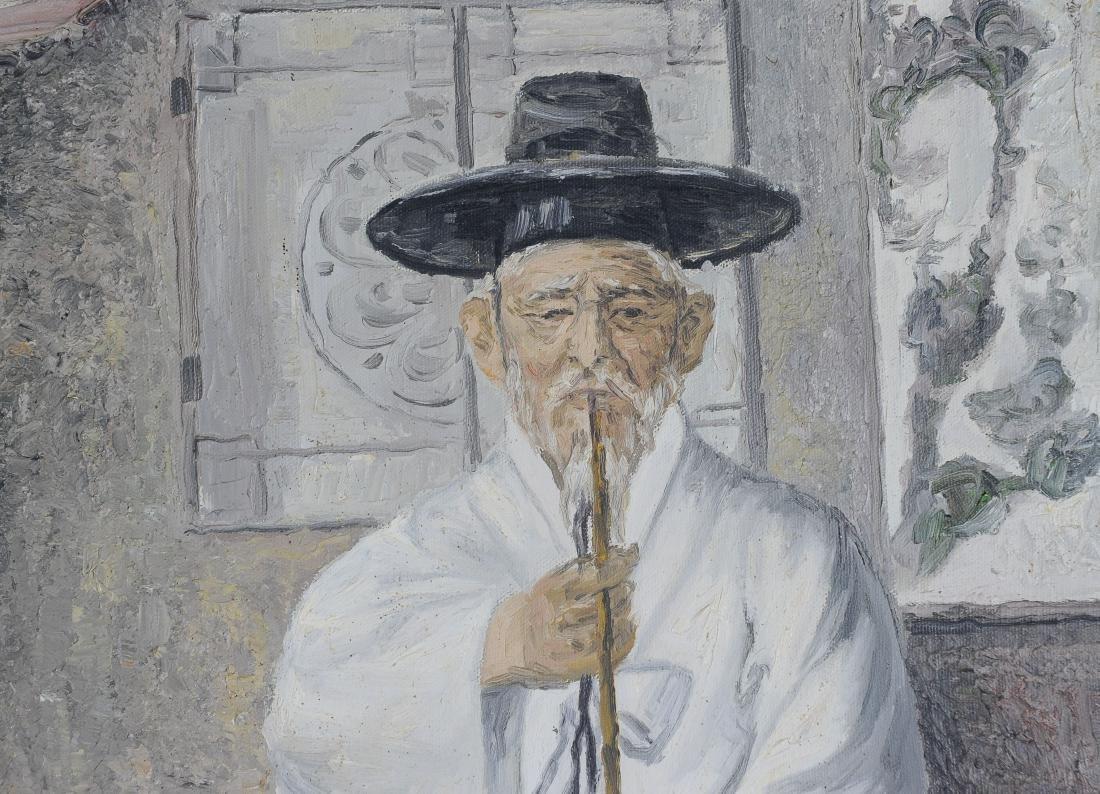 Signed Korean Oil on Canvas Portraits (2) - 5