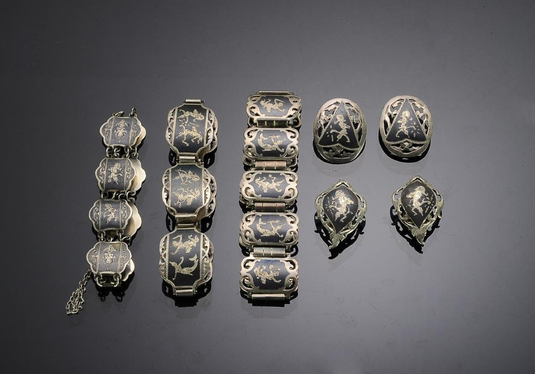 Siam Sterling Silver Niello Jewelry (5)