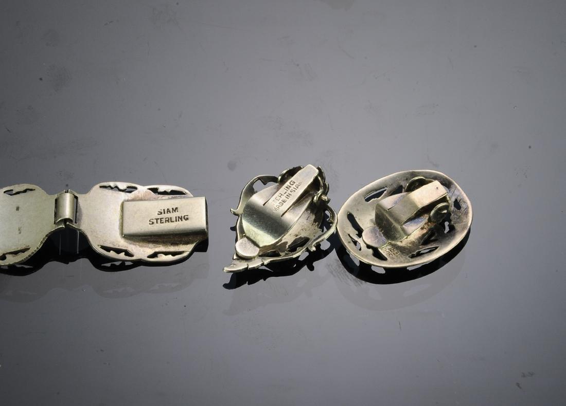 Siam Sterling Silver Niello Jewelry (5) - 3