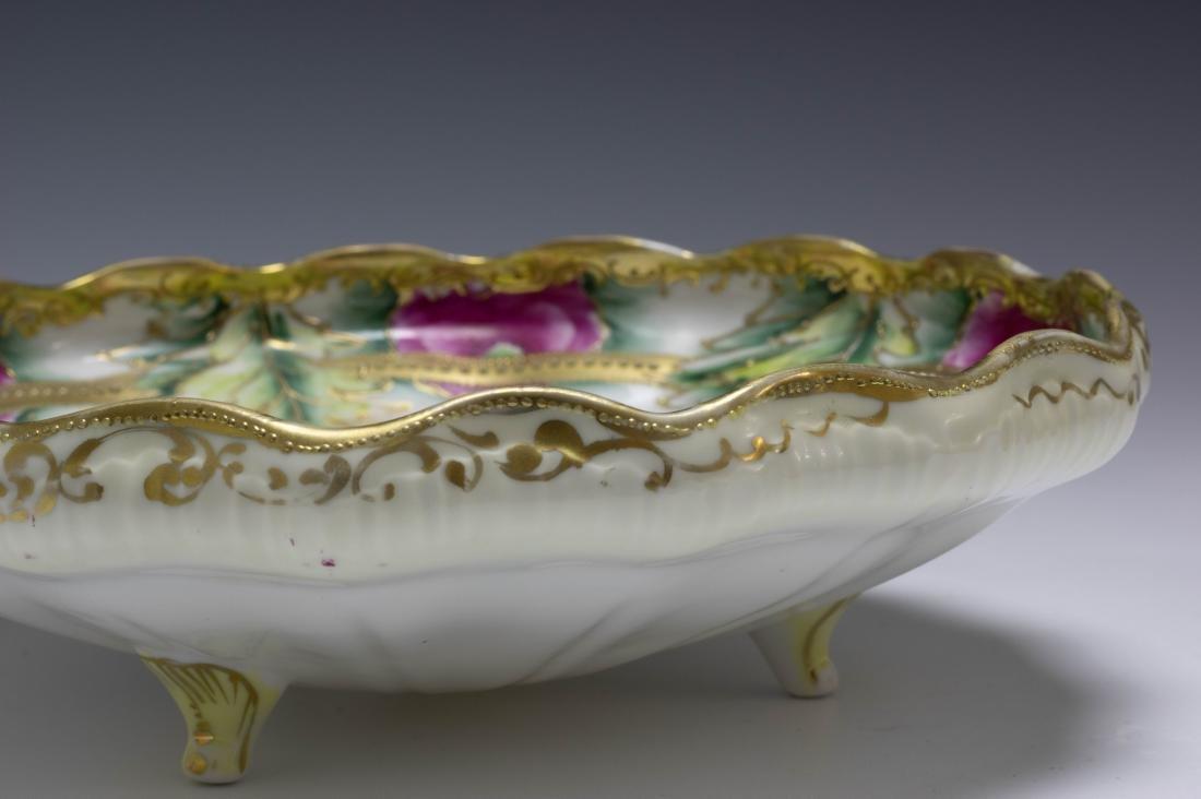 (2) Nippon Porcelain Biscuit Barrel & Rose Bowl - 5