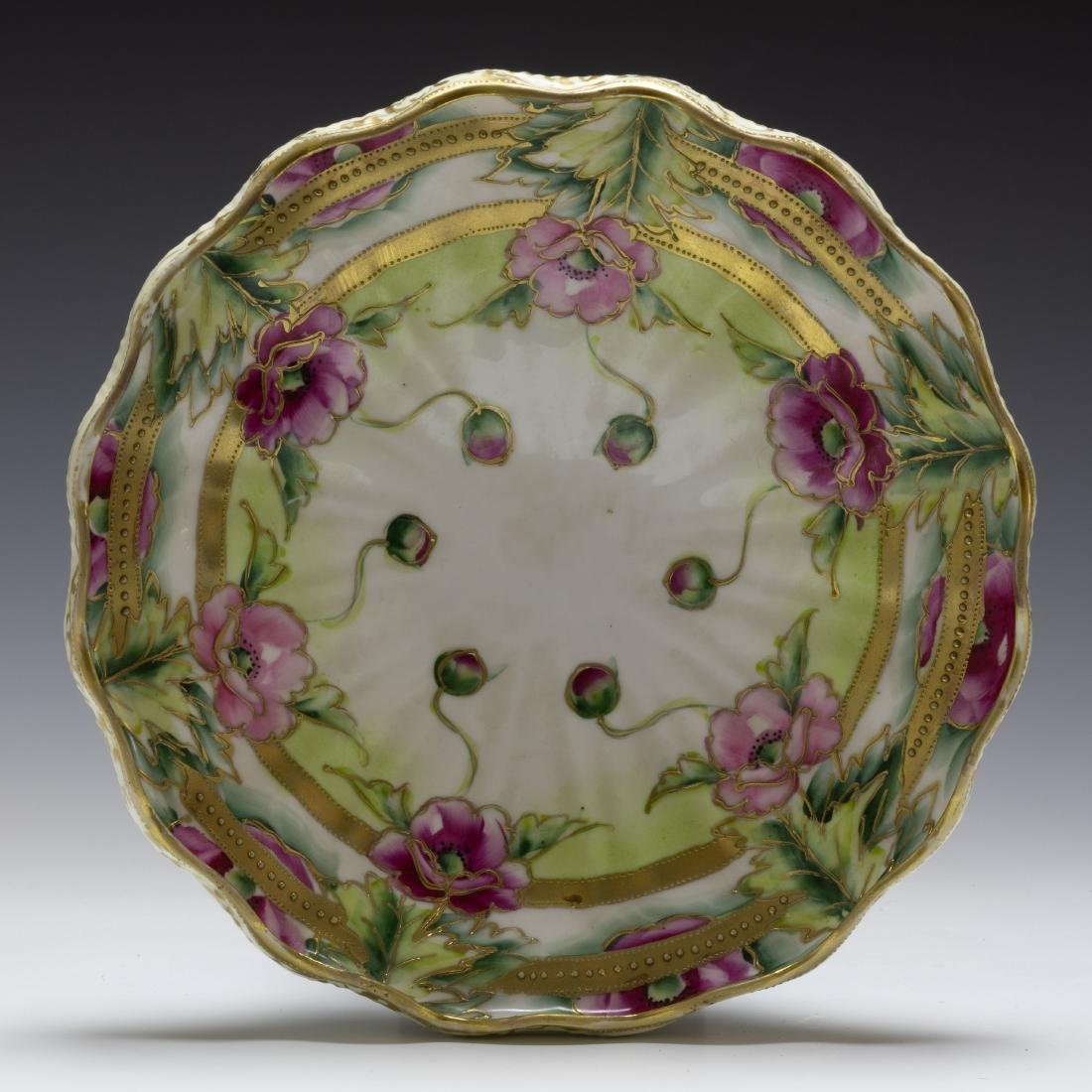 (2) Nippon Porcelain Biscuit Barrel & Rose Bowl - 6