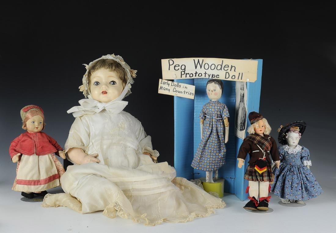 (5) Group of Dolls Peg Stockinette Composition