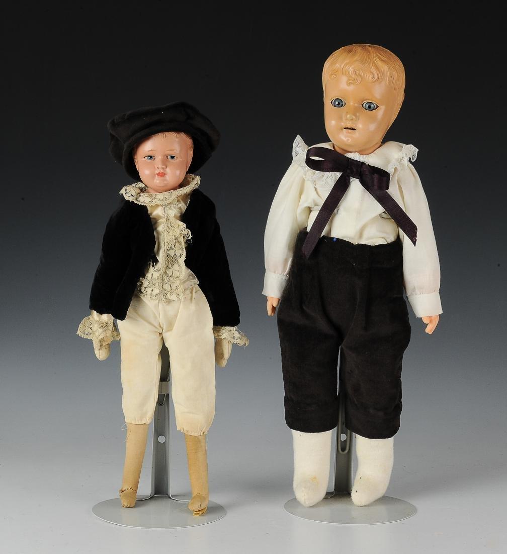 (2) German Celluloid Dolls by Schildkrot