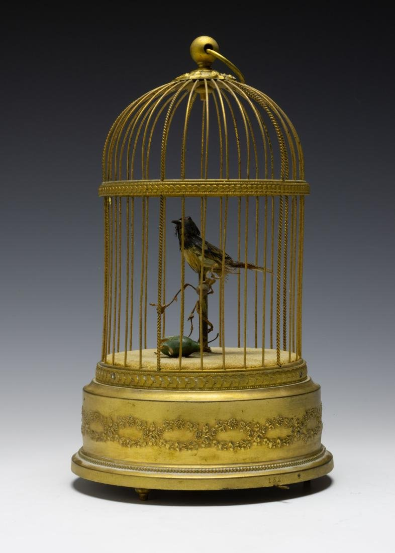 Singing Bird in Cage Automaton from France - 4