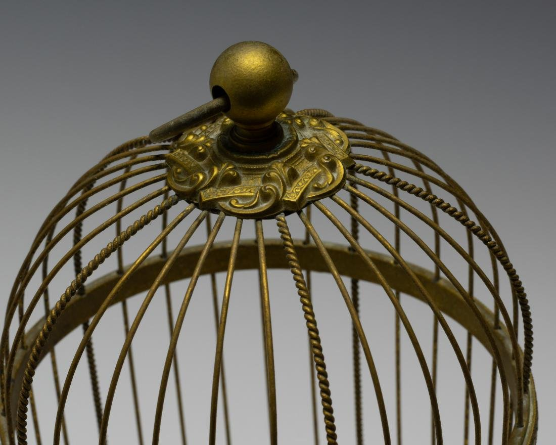 Singing Bird in Cage Automaton from France - 7