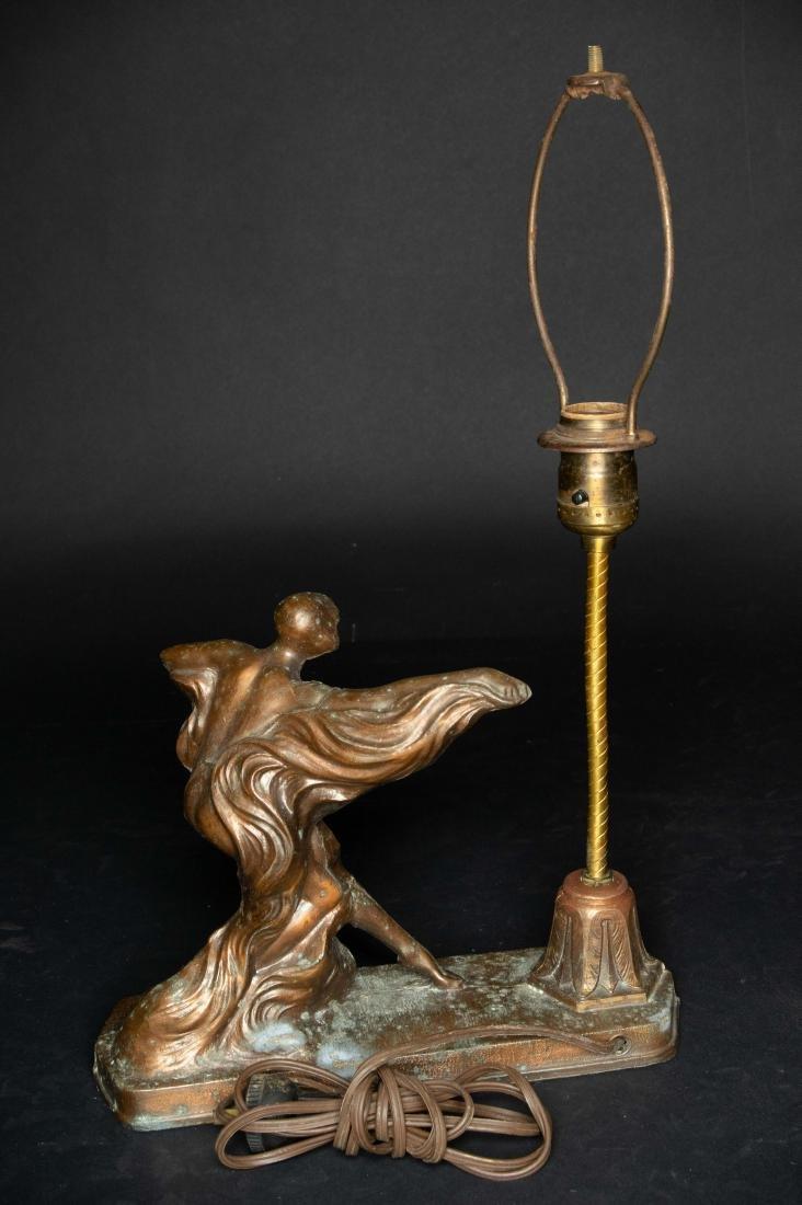 Art Deco Spelter Lamp - 3
