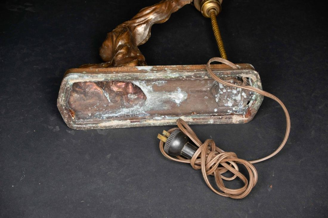 Art Deco Spelter Lamp - 5