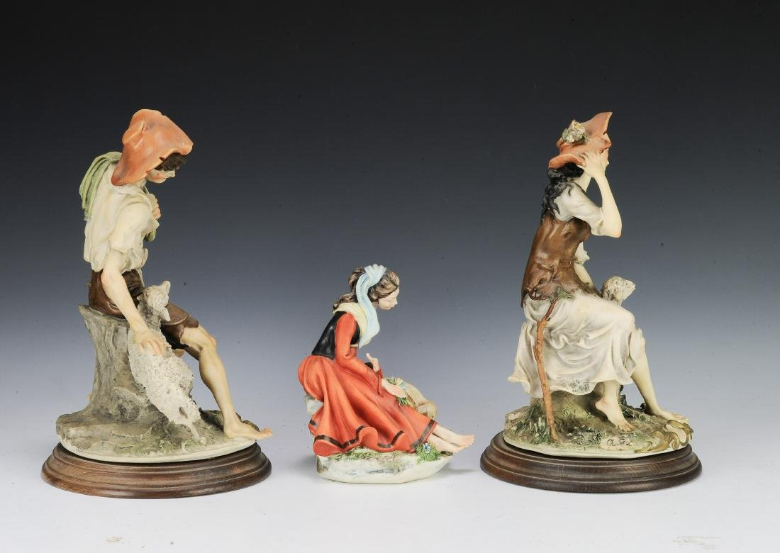(3) Capodimonte Porcelain Figures with Sheep - 2